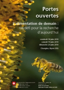 Flyer Portes ouvertes Agroscope Changins-Wädenswil - Suisse